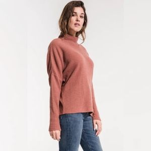 Forever 21 Pink Clay Turleneck Long Sleeve Sweater